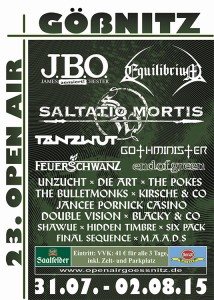 Gößnitz Open Air Flyer